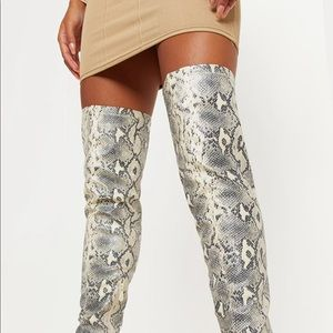 NEW PLT Snake Over the Knee Boots Sz 6